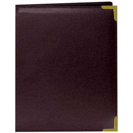 "Pioneer Wallet Oxford Bound Photo Album, Solid Color Sewn Leatherette Covers wivh Brass Accent Corners, Holds 24 2.5x3.5"" Wallet Photos, 1 Per Page, Color:"
