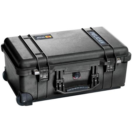 Pelican 1510 Carry On Watertight Hard Case without Foam Insert, with Wheels. - Charcoal Black image