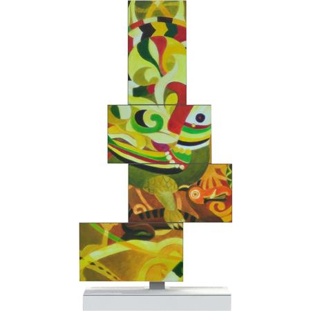 "Planar Silhouette 4x 46"" LCD Display and Stand, 3000:1 Contrast Ratio, 450cd/m2 Brightness, 8ms Response Time, 9:16 Portrait Aspect Ratio"
