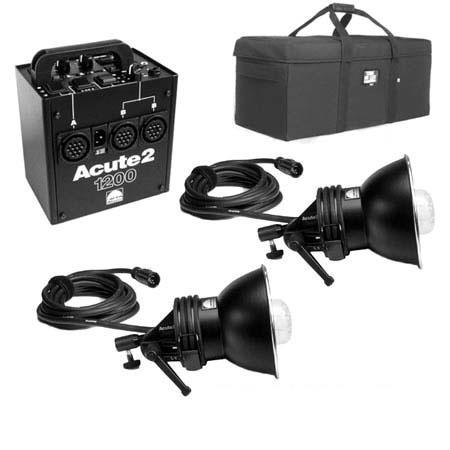 Profoto Acute2 1200ws ProValue Pack with Power Pack, 2 Flash Heads & Custom Tenba Air Case.