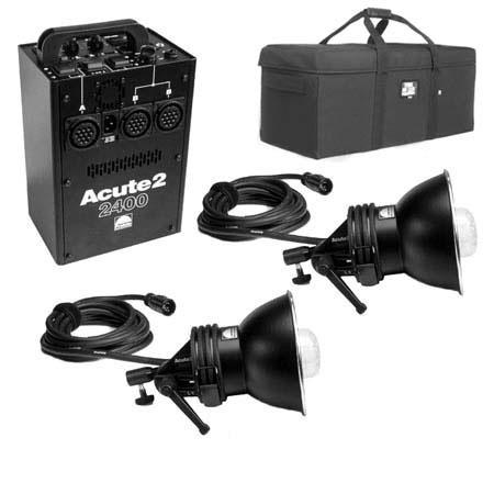 Profoto Acute2 2400ws ProValue Pack with Power Pack, 2 Flash Heads & Custom Tenba Air Case,