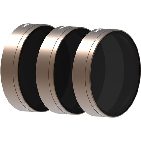 Polar Pro Cinema Series Shutter Collection 3-Filter Pack for DJI Phantom 4 Pro Quadcopter, Includes ND8 Filter, ND16 Filter...
