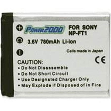 Power2000 NP-FT1 Replacement 3.6v, 800mAh Lithium Ion Battery for Sony Digital Camera Battery
