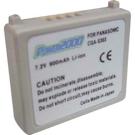 Power2000 CGA-S303 Replacement 7.2v, 900mAh Lithium Ion Battery for Panasonic CGA-S303 Digital Camera Battery