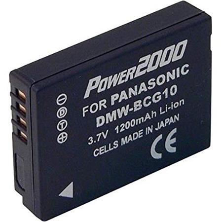 Power2000 BC-G10 Replacement 3.7v, 1200mAh Lithium Ion Battery for Panasonic BC-G10 Digital Camera Battery