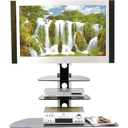 "VidPro 3 Shelf TV Stand Supports 33 lbs., Top Shelf 21.7"" Wide x 13.6"" Deep. image"