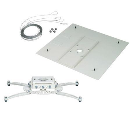 Premier Mounts PDS-FCMAW-QL Projector Mount with False Ceiling Adapter and Quick Lock Cable, White