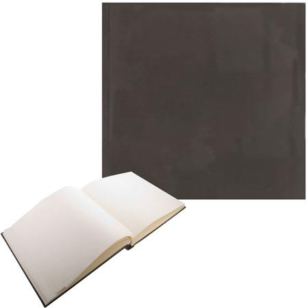 "Semikolon (Pierre Belvedere) Classic Series, Extra Large Bound 12x12"" Photo Album with Linen Covers, 65 Ivory Pages, Color: Brown"