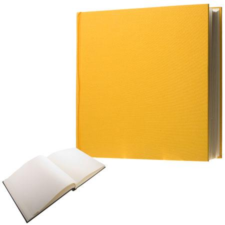 "Semikolon (Pierre Belvedere) Classic Series, Extra-Extra Large Bound 14x14"" Photo Album with Linen Covers, 75 Ivory Pages, Color: Sun"