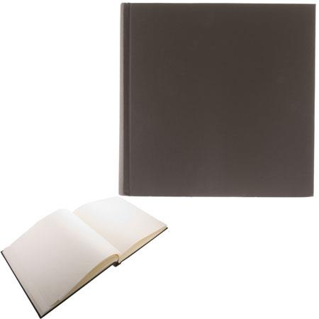"Semikolon (Pierre Belvedere) Classic Series, Extra-Extra Large Bound 14x14"" Photo Album with Linen Covers, 75 Ivory Pages, Color: Brown"