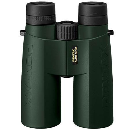 Pentax 10 x 50 DCF SP, Superior Performance Water Proof Roof Prism Binocular with 5.0 Degree Angle of View, Dark Green & Black, U.S.A. image