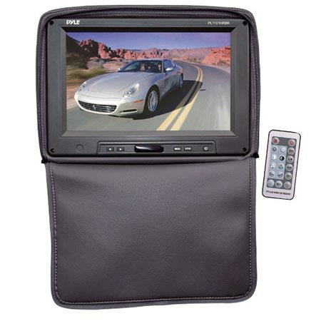 "Pyle PL1101HR Adjustable Headrest with Built-In 11"" TFT/LCD Monitor, IR Transmitter & Cover, 1024x600 Resolution, Black"