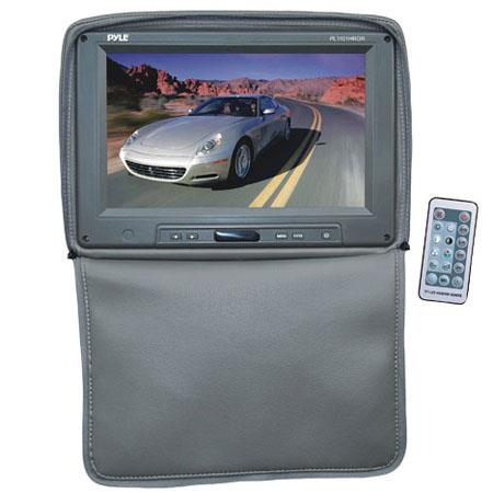"Pyle PL1101HR Adjustable Headrest with Built-In 11"" TFT/LCD Monitor, IR Transmitter & Cover, 1024x600 Resolution, Gray"