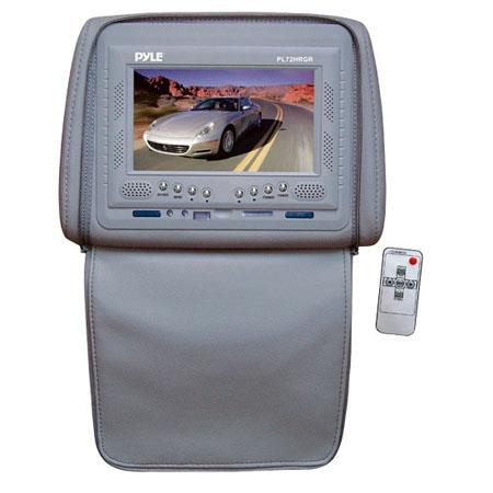 "Pyle PL72HR Adjustable Headrest with Built-In 7"" TFT/LCD Monitor, IR Transmitter & Cover, Gray"