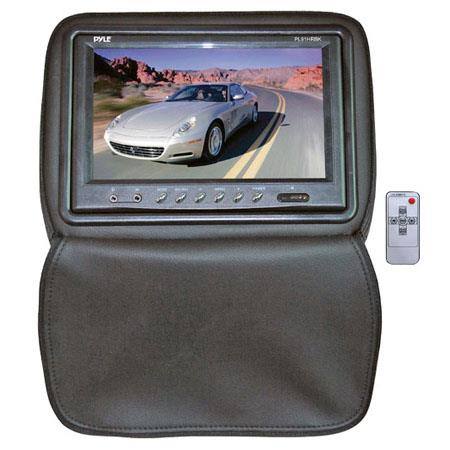 "Pyle PL91HR Adjustable Headrest with Built-In 9"" TFT/LCD Monitor, IR Transmitter & Cover, Black"