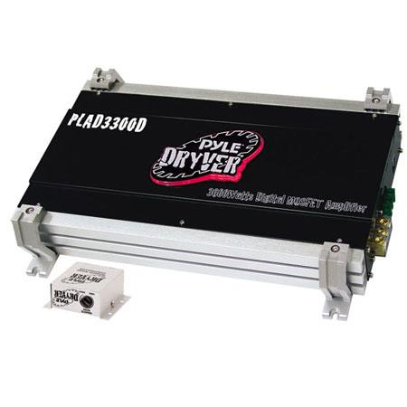 Pyle PLAD3300D Dryver 3600 Watt Mono Block Mosfet Digital Car Speaker Amplifier, 15Hz - 150KHz Frequency Response