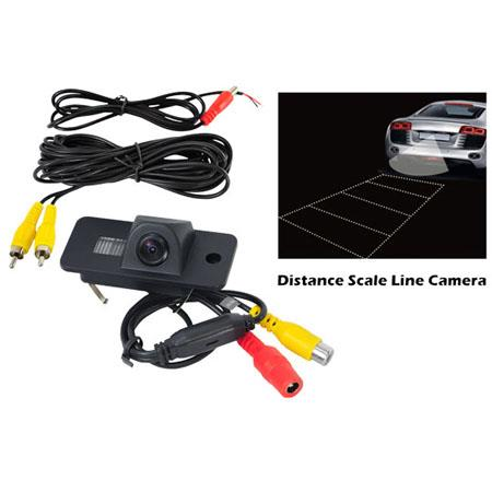 Pyle PLCMAUDI Audi Vehicle Specific Infrared Rear View Backup Camera with Distance Scale Line
