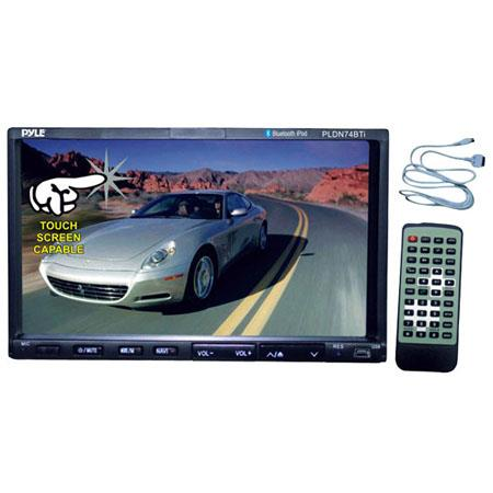 "Pyle PLDN74BTI In-Dash Double DIN 7"" Touchscreen DVD/CD/MP3 Car Stereo Receiver with Bluetooth, USB and iPod Control"