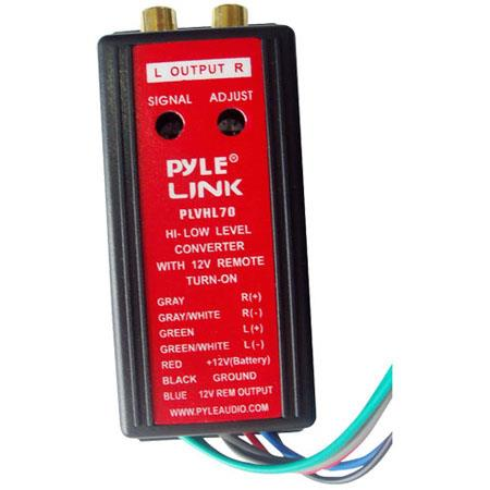 Pyle PLVHL70 2-Channel High Level to Low Level Converter with 12V Remote Turn-On