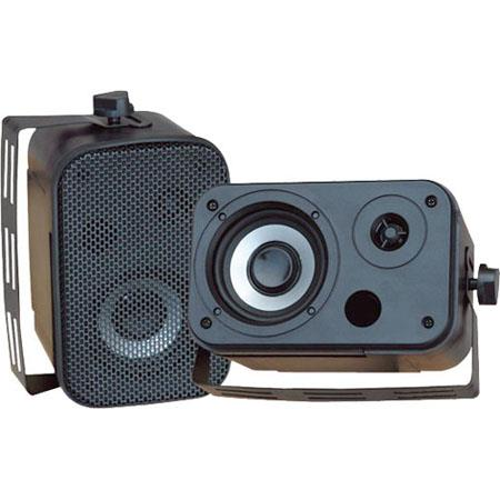 "Pyle 3.5"" Indoor/Outdoor Waterproof Speakers, Pair, Black"