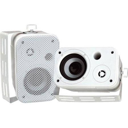 "Pyle 3.5"" Indoor/Outdoor Waterproof Speakers, Pair, White"