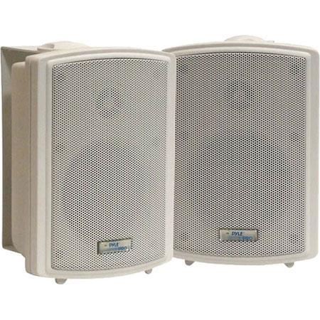 """Pyle 3.5"""" Indoor/Outdoor Waterproof Wall Mount Speakers, Pair"""