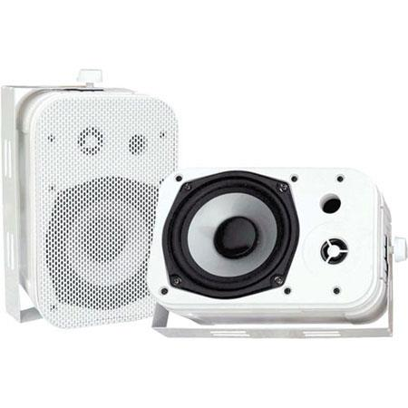 "Pyle 5.25"" Indoor/Outdoor Waterproof Speakers, Pair, White"