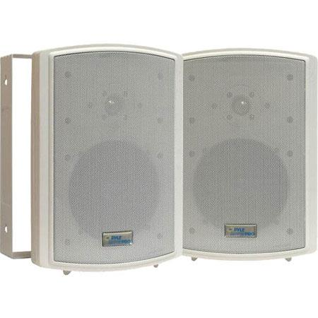 "Pyle 6.5"" Indoor/Outdoor Waterproof On Wall Speakers, Pair, White"