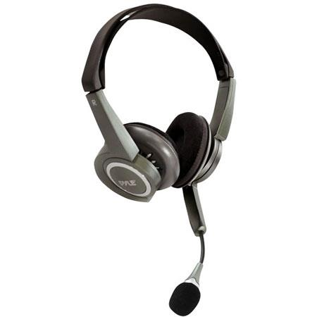 Pyle Extreme Bass Stereo PC Multimedia Headset/Microphone with Volume Control, 20-22,000 Hz Frequency Response