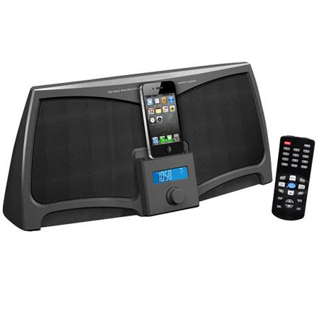 Pyle PIP711 iPad/iPod/iPhone Digital 2-way Stereo Speaker System with 300 Watts, Remote Control, Line-In, Black