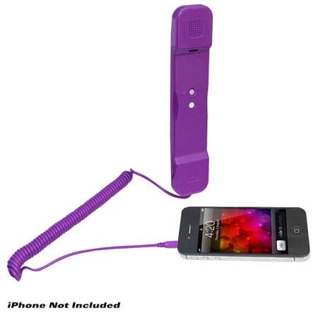 Pyle PITP8 Handset for iPhone, iPad, iPod and Android Phones, Purple