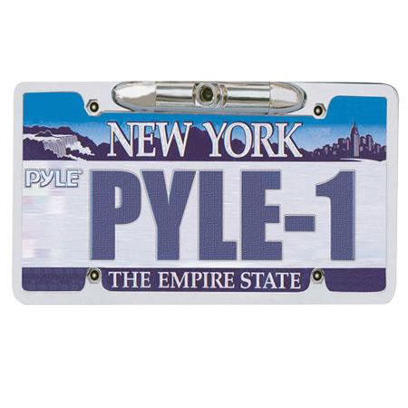 Pyle PLCM21 License Plate Rear View Backup CCD Color Camera, Zinc Metal Chrome