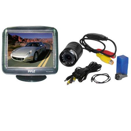 "Pyle PLCM35R 3.5"" TFT LCD Digital Monitor with Night Vision Rear-View Camera"