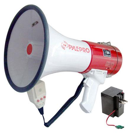 Pyle PMP55R Professional Piezo Dynamic Megaphone With Recording Function & Rechargeable Batteries