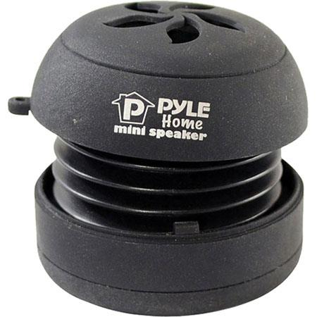 Pyle PMS2 Bass Expanding Rechargeable Mini Speaker, USB 2.0, Black