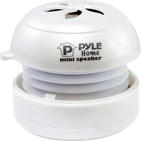 Pyle PMS2 Bass Expanding Rechargeable Mini Speaker, USB 2.0, White