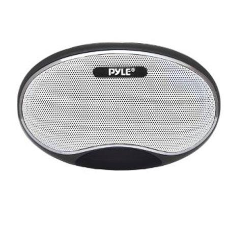 PyleHome PSPFM1B Portable MP3 Speaker with Lithium Rechargeable Battery, LED Display, MP3/Micro SD/USB/Laptop, FM Radio, Aux Input, Black