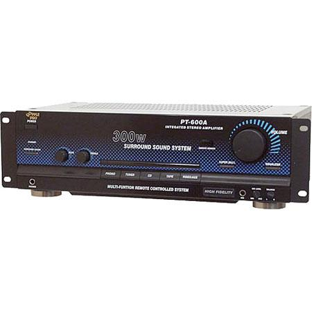 Pyle 300 W Stereo Receiver/Amplifier, EQ Presets, Front Panel Headphone Jack