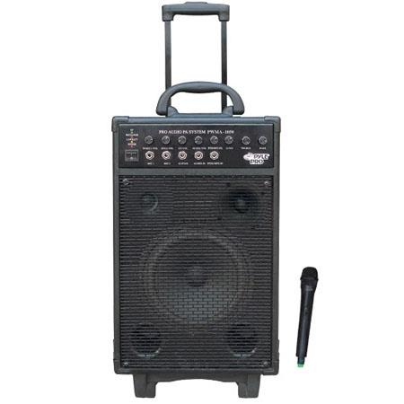 Pyle 800 watt VHF Wireless Battery Powered PA System with Echo/iPod/MP3 Input Jack