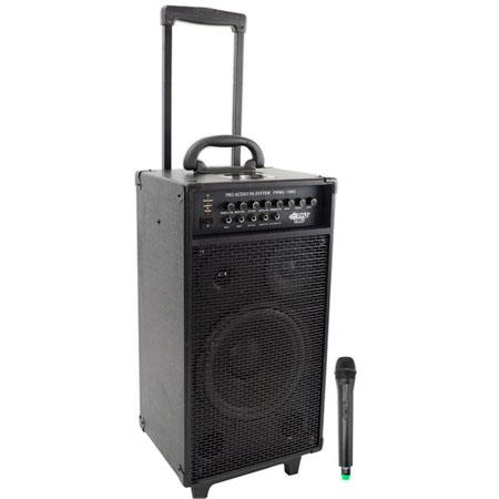 Pyle 800 watt VHF Wireless Portable PA System with iPod Dock & Wireless Microphone