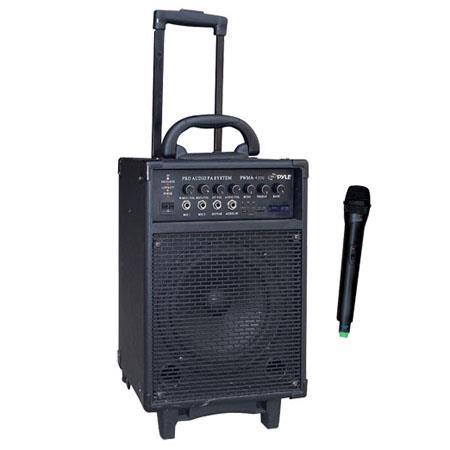 Pyle 300 Watt Wireless Rechargeable Portable PA System with FM/USB/SD