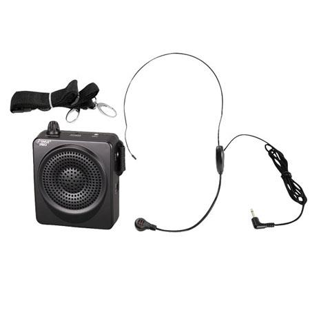 Pyle Waist-Band Portable PA System with Headset Microphone, Built-In Rechargeable Batteries, Black