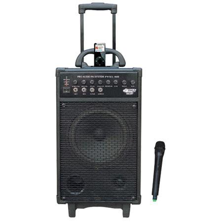 Pyle 500 W VHF Wireless Battery Powered PA System with iPod Dock