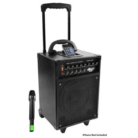 Pyle 600 watt VHF Wireless Portable PA System with iPod Dock