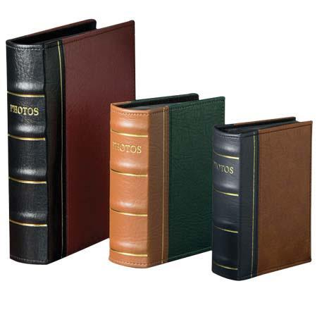 "Prinz Oxford Library Bound Photo Album, Random Solid Color Covers, Holds 300 4"" x 6"" Photos, 3 Per Page image"