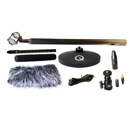 Que Audio Sniper Microphone Kit, Includes QMSG1 Mini Shot Gun Microphone, Mini Shockmount, Mini Boom Pole