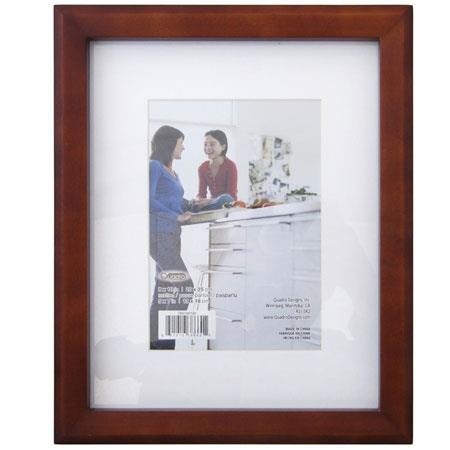 Quadro designs sidetrax 8x10 wood frame matted to 5x7 for 8x10 office design