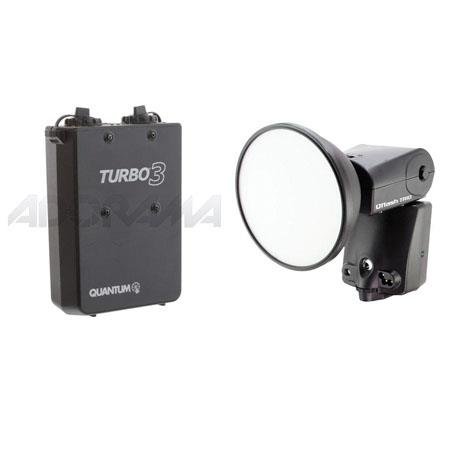Quantum QF8N Qflash TRIO Shoe Mounted Flash, Built-in TTL Radio for Nikon & Fujifilm Digital SLRs - Bundle - with Turbo 3 Rechargeable Battery