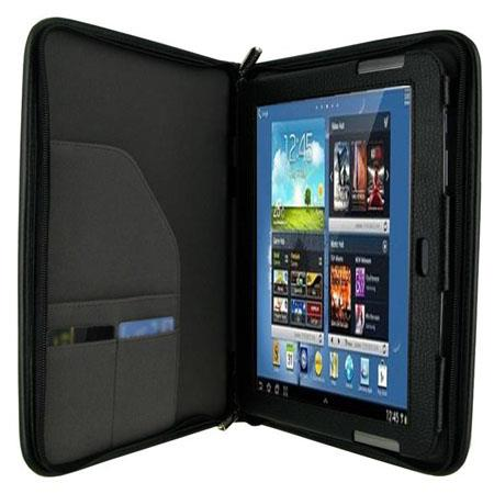 rooCASE Executive Leather Case Cover for Samsung Galaxy Note 10.1 Tablet, Black