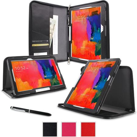 rooCASE Executive Portfolio Leather Case for Galaxy Tab Pro 10.1/Note 10.1 (2014 Edition), Black